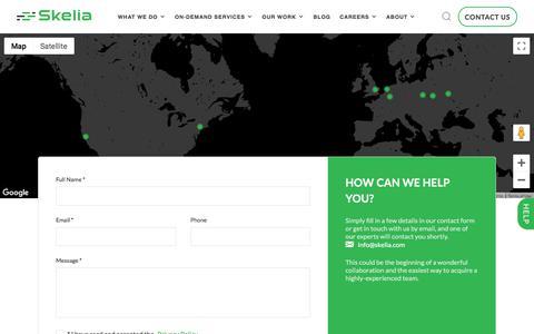 Screenshot of Contact Page skelia.com - Contact - Skelia :: Skelia - captured Feb. 16, 2020