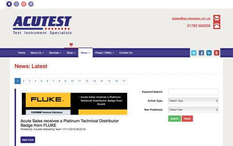 Screenshot of Press Page acutest.net - News   Acutest - captured Nov. 20, 2016