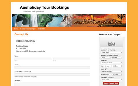 Screenshot of Contact Page ausholiday.com.au - Contact Us | Ausholiday Tour Bookings - captured Oct. 9, 2017