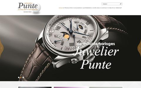 Screenshot of Home Page juwelierpunte.nl - Juwelier-Goudsmid Punte - captured Feb. 12, 2016