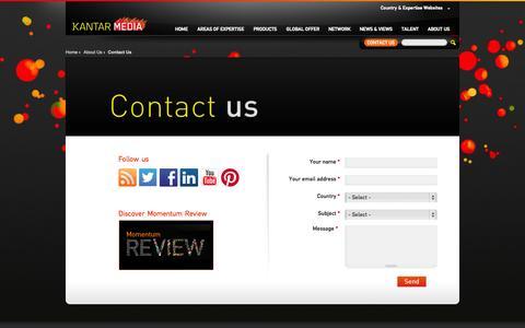 Screenshot of Contact Page kantarmedia.com - Contact Us | Kantar Media - captured Sept. 19, 2014