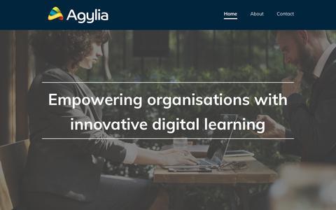 Screenshot of Home Page agyliagroup.com - Agylia Group - captured Sept. 25, 2018