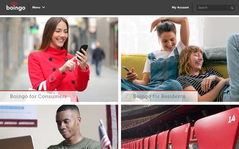 Screenshot of Home Page boingo.com - WiFi Service Provider | Boingo Wireless, Inc - captured May 22, 2019