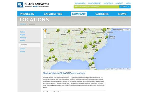 Screenshot of Locations Page bv.com - Locations - captured Sept. 19, 2014