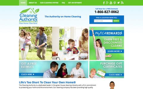 Screenshot of Home Page thecleaningauthority.com - Green Home Cleaning Services, Professional House Cleaning Company, Maid Cleaning Service, Eco / Environmentally Friendly Residential Cleaning - The Cleaning Authority - captured Sept. 25, 2014