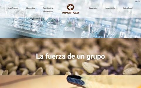 Screenshot of Home Page importaco.com - Importaco - Compañía de alimentación internacional - captured Jan. 26, 2017