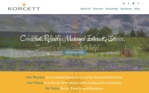 Screenshot of Home Page korcett.com - Korcett | Leaders in Online Up Time - captured Sept. 30, 2014