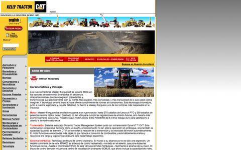 Screenshot of Landing Page kellytractor.com - Kelly Tractor Tractores de Rueda Massey Ferguson MF 8600 - captured Aug. 12, 2016