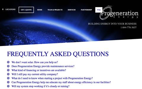 Screenshot of FAQ Page progenerationenergy.com - Frequently Asked Questions – Progeneration energy - captured May 23, 2017