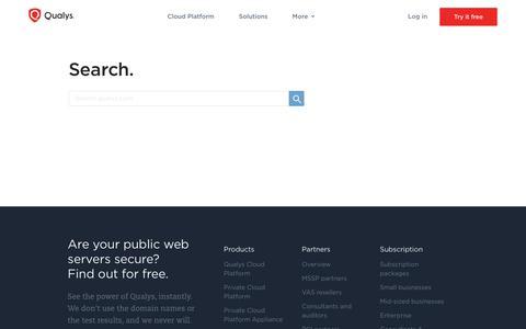 Search | Qualys, Inc.