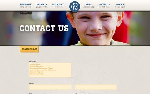 Screenshot of Contact Page skyranch.org - Contact Us | Sky Ranch - captured Nov. 4, 2014