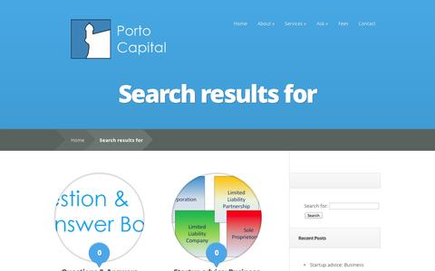 Screenshot of Blog portocapital.com - Search results for """