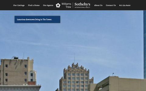 Screenshot of Home Page williamstrew.com - Fort Worth Residential Real Estate - Williams Trew Sotheby's International Realty - captured Oct. 7, 2014