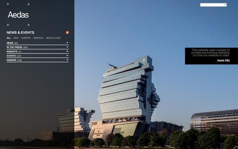 Screenshot of Press Page aedas.com - News & Events   Aedas - captured Sept. 24, 2014