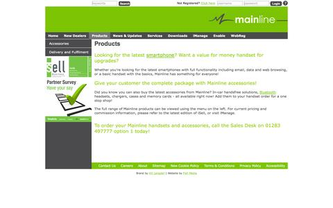 Screenshot of Products Page mainline.uk.com - Mainline - Products - captured Feb. 4, 2016