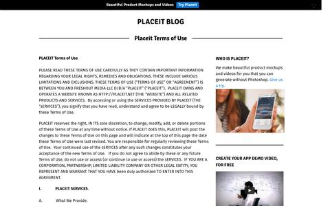 Screenshot of Terms Page placeit.net - Placeit Terms of Use | Placeit Blog - captured Nov. 18, 2015