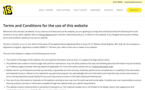 Screenshot of Terms Page littoralis.com - Website terms and conditions | DISC - captured July 20, 2018