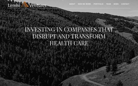 Screenshot of Home Page lemhiventures.com - Home - Lemhi Ventures - captured July 18, 2018