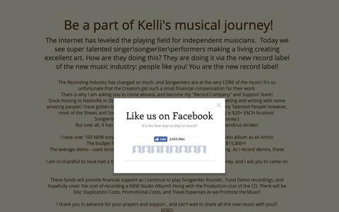Screenshot of Support Page kellijohnson.net - Support Kelli Johnson - captured Nov. 27, 2018