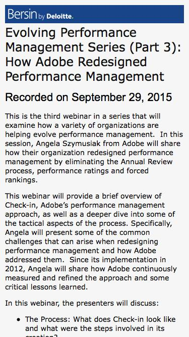 Evolving Performance Management Series (Part 3): How Adobe Redesigned Performance Management