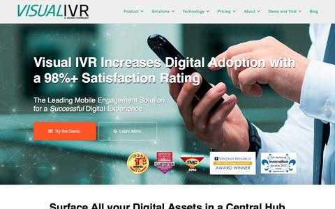 Screenshot of Home Page visual-ivr.com - Visual IVR by Jacada - captured June 23, 2017