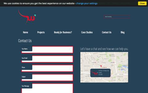 Screenshot of Contact Page websprint.me - Contact Us - WebSprint.me | High Speed Creative Digital Agency | Identity | Branding | Websites - captured Oct. 25, 2014