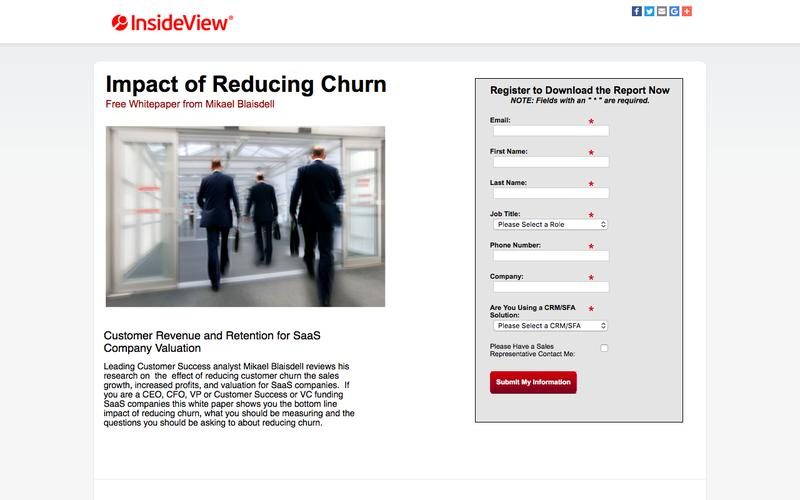 InsideView Resources | Impact of Reducing Churn
