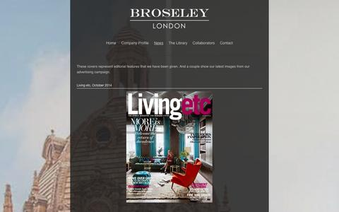 Screenshot of Press Page broseley.com - Broseley London - captured Oct. 5, 2014