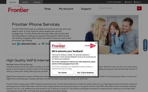 Home Phone Service |VoIP & Internet Phone Service | Frontier.com
