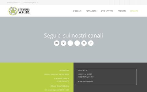 Screenshot of Contact Page startingwork.it - Istituto Superiore Starting WorkContatti - Istituto Superiore Starting Work - captured Sept. 27, 2018