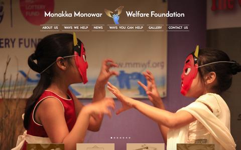Screenshot of Home Page mmwf.org - mmwf.org - Welcome to Monakka Monowar Welfare Foundation ( M M W F) - captured Feb. 28, 2016