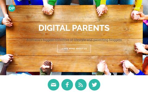 Screenshot of Home Page digitalparents.com.au - Digital Parents | Australia's biggest collective of lifestyle and parenting bloggers - captured Nov. 10, 2015