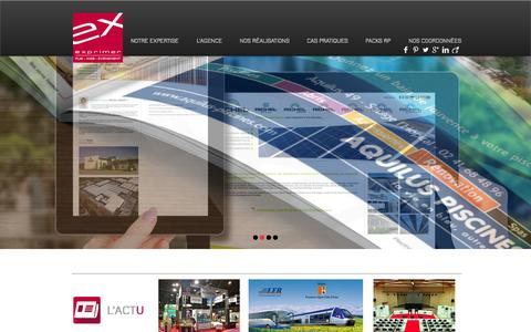 Screenshot of Home Page agence-exprimer.com - Exprimer, Agence de communication Aix en Provence - captured Oct. 3, 2014