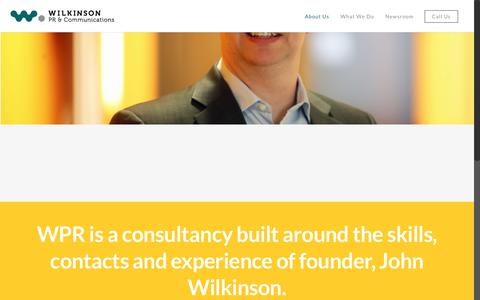 Screenshot of About Page wilkinsonpr.co.uk - Meet the team at Wilkinson PR & Communications - captured Nov. 5, 2017