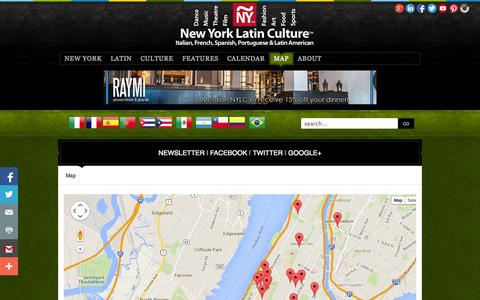 Screenshot of Maps & Directions Page newyorklatinculture.com - New York Latin Culture Map - captured Oct. 29, 2014