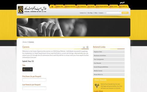 Screenshot of Jobs Page hsagroup.com captured Oct. 1, 2014
