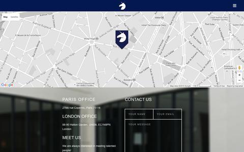 Screenshot of Contact Page avoltapartners.com - Contact | Avolta Partners - captured Dec. 27, 2015