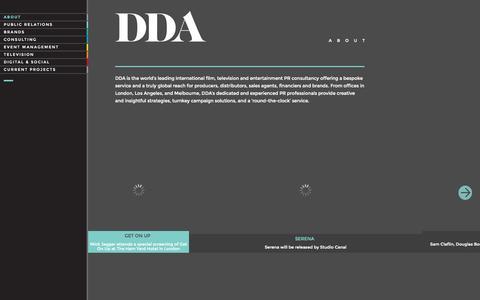 Screenshot of Home Page About Page ddapr.com - DDA | DDA - captured Sept. 30, 2014