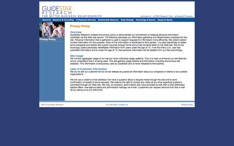 Screenshot of Privacy Page guidestarco.com - GuideStar - Privacy Policy - captured Oct. 3, 2014