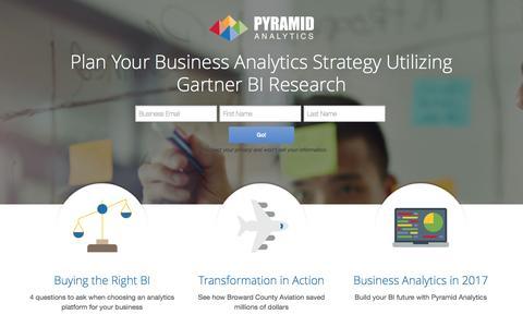 Screenshot of Landing Page pyramidanalytics.com - Pyramid Analytics - captured Dec. 24, 2016