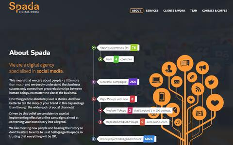 Screenshot of Home Page agentiaspada.ro captured Feb. 15, 2016