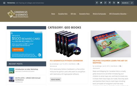 Geo Books | Canadian GIS & Geomatics