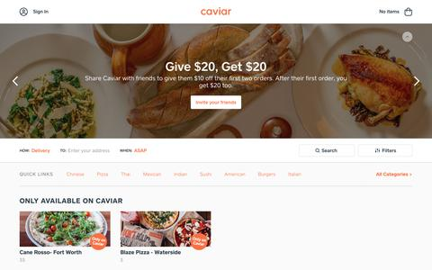Food Delivery - Fort Worth Restaurants | Caviar