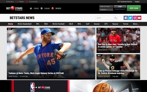 Screenshot of Press Page betstars.com - Betting Tips, Odds & News from BetStars - captured July 2, 2019