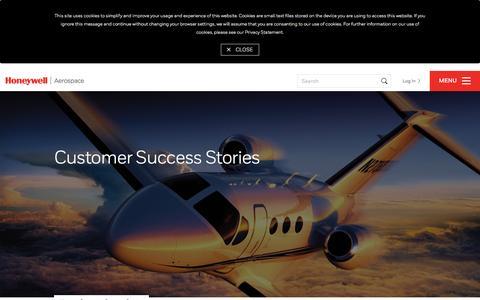 Screenshot of Case Studies Page honeywell.com - Customer Success Stories - captured Nov. 6, 2016