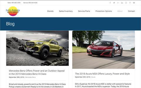 Screenshot of Blog sbautogroup.com - Blog | Santa Barbara Auto Group - captured Oct. 2, 2018