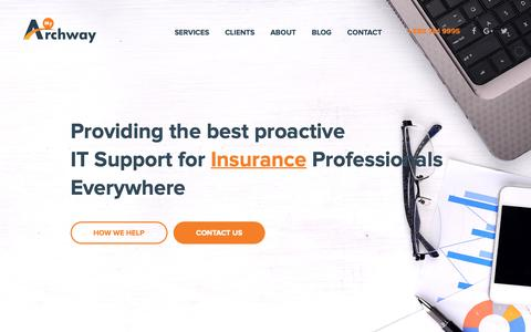 Screenshot of Home Page myarchway.com - Archway Computer | IT Support For Independent Insurance Agencies | My Archway - captured Oct. 4, 2018