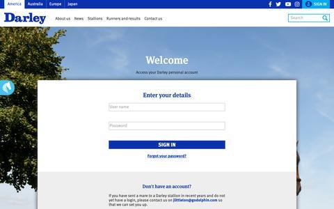 Screenshot of Login Page darleyamerica.com - Personalised account settings | America - captured Oct. 7, 2018