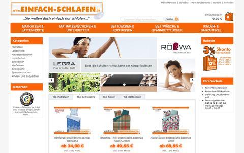 Screenshot of Home Page einfach-schlafen.de - Einfach Schlafen | einfach-schlafen.de - captured Sept. 24, 2014