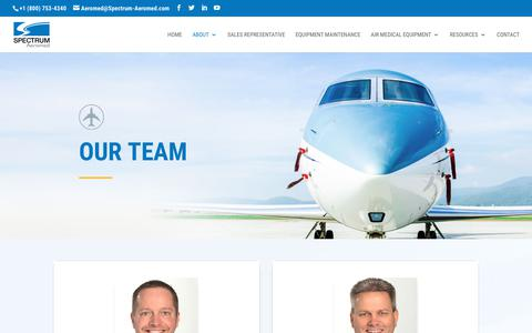 Screenshot of Team Page spectrum-aeromed.com - Meet the Professional and Experienced Spectrum Aeromed Team - captured Aug. 17, 2019